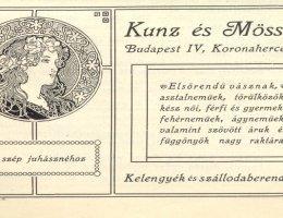 Egy textilbolt reklámja