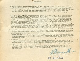 Berend Béla, a Zsidó Tanács tagjának jelentése egy nyilas tömeggyilkosságról (1945)