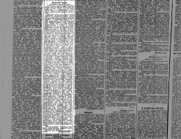 Kossuth Lajos nyilatkozata a tiszaeszlári ügyről a Somogy c. újságban