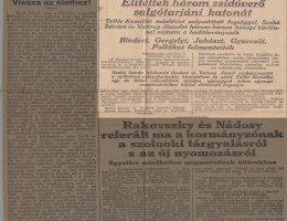 A Magyarország riportja három zsidóverő elítéléséről (1924)