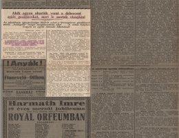 Cikk az Esti Kurirban egy 1921-es debreceni támadásról