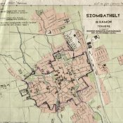 An Eruv map from Szombathely (before 1945)